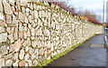 J4668 : Stone wall, Comber (January 2015) by Albert Bridge