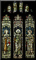 TQ8218 : Stained glass window, St George's church, Brede by Julian P Guffogg