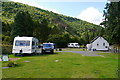 SH6515 : The touring caravan and upper camping area at Graig Wen by Phil Champion