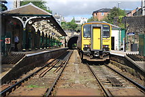 SE3457 : Leeds train, Knaresborough Station by N Chadwick