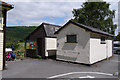 SH6918 : Public toilets at the site of Penmaenpool Station by Phil Champion