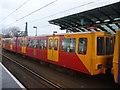 NZ3957 : Tyneside Metro : Unit 4026 At St Peter's Station, Sunderland by Richard West