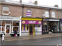 SY6990 : UKIP office Dorchester by Nigel Mykura