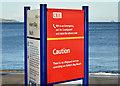 "J4682 : ""No lifeguard"" sign, Helen's Bay (January 2015) by Albert Bridge"