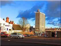 SP3378 : Station Tower seen from Warwick Road by John Brightley