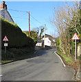 SS8780 : Road narrows signs, Laleston by Jaggery