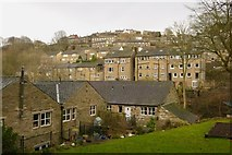 SE1407 : Hillside Houses on Dunford Road, Holmfirth by Richard Kay