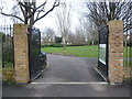 TQ3787 : The entrance to Skeltons Lane Park by Marathon