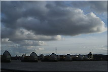 TQ4179 : View of the Thames Barrier from Thames Barrier Park #2 by Robert Lamb