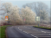 SK5815 : Frost covered trees along Sileby Road by Mat Fascione