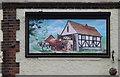 TM1845 : The Lattice Barn Public House Mural by Adrian Cable