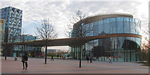 TQ3979 : New building at North Greenwich by Oast House Archive