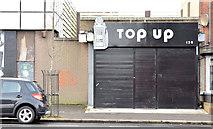 "J3673 : ""Top Up"", Belfast (January 2015) by Albert Bridge"