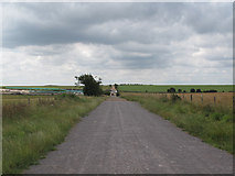 SU1242 : Byway past Stonehenge by Stephen Craven