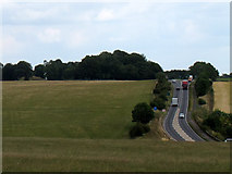 SU1242 : A tangential view of the A303 by Stephen Craven