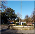 ST8026 : Flagpole at the original site of Gillingham War Memorial by Jaggery