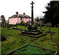 SO5030 : Medieval cross in Much Birch churchyard by Jaggery