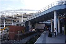 SJ8499 : Platform 1, Manchester Victoria Station by Phil Champion