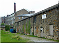 SJ9984 : Canalside industrial building at Newtown, Derbyshire by Roger  Kidd