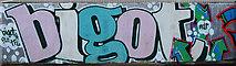 SD9927 : Graffiti in Hebden Bridge by michael ely