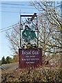 ST5112 : Sign for Royal Oak, Hardington Moor by Becky Williamson