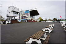SO8455 : The stand at Worcester Racecourse by Bill Boaden