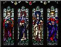 TQ5246 : Stained glass window, St Luke's church, Chiddingstone Causeway by Julian P Guffogg