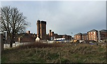 SJ9223 : St George's Hospital, Stafford: old and new by Jonathan Hutchins
