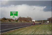 NJ3558 : Approach to the Roundabout by Anne Burgess