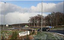 NJ3558 : A96/A98 Roundabout by Anne Burgess