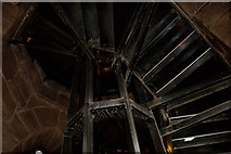 SJ3288 : Looking up the stairwell in St Mary's Tower by Ian Greig