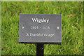 SK8570 : Thankful Village plaque by Richard Croft