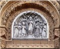 SD5329 : Tympanum, St Wilfrid's Church by David Dixon