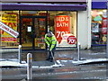 H4572 : Clearing the footpath,Omagh (2) by Kenneth  Allen