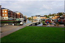 SO8453 : The Worcester & Birmingham Canal at Diglis by Bill Boaden