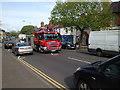 SP2965 : Fire engine on call, Emscote Road, Portobello, Warwick by Robin Stott