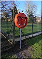 SO8355 : Lifebuoy by the Severn Way, Henwick, Worcester by P L Chadwick