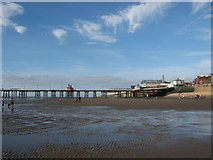 SD3036 : Blackpool Beach and the North Pier by Stephen Armstrong