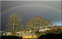 SX9065 : Rainbow over Torquay Academy by Derek Harper