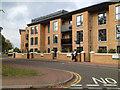 SP1278 : New flats, Dove Tree Court, Longmore Road, Shirley by Robin Stott