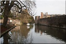 ST5545 : The moat, Bishop's Palace, Wells by Becky Williamson