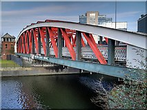 SJ8196 : Trafford Road Swing Bridge, Manchester Ship Canal by David Dixon