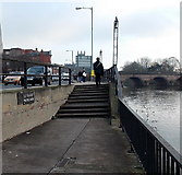 SO8454 : Steps up from Le Vésinet Promenade, Worcester by Jaggery