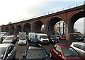 SO8455 : Viaduct arches 11-18, Worcester  by Jaggery
