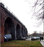 SO8455 : Under arch parking in Worcester by Jaggery