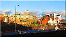 SP3378 : City Centre from Manor Road footbridge, Coventry by John Brightley