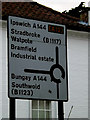 TM3877 : Roadsign on London Road by Adrian Cable