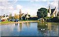 ST8673 : Pond at Biddestone by Trevor Rickard