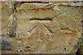 TQ2441 : Benchmark, Church of St Nicholas by N Chadwick
