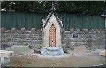 SJ3454 : Drinking fountain. by Geoff Evans